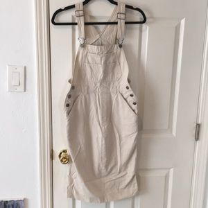 Old Navy Khaki Overall Dress